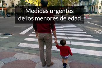 medidas urgentes de los menores de edad