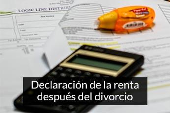 declaracion de la renta despues del divorcio