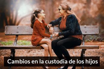 cambio en la guarda y custodia de los hijos