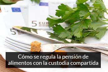 como se regula la pension de alimentos con custodia compartida
