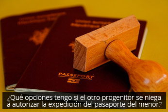 autorizar expediente pasaporte menor