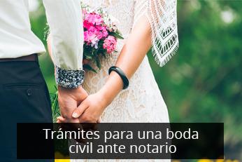 tramites boda civil ante notario