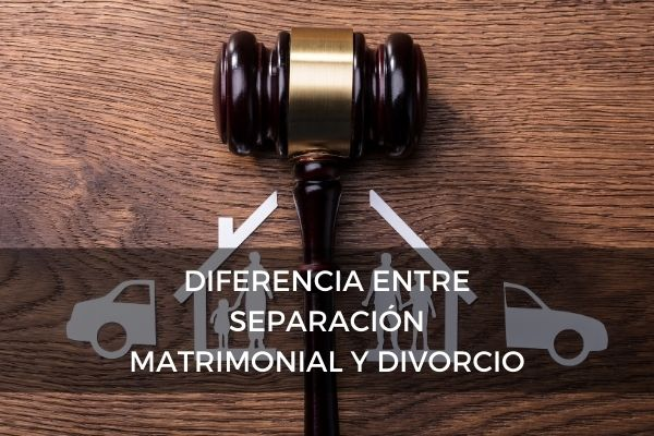 Diferencia entre separación matrimonial y divorcio